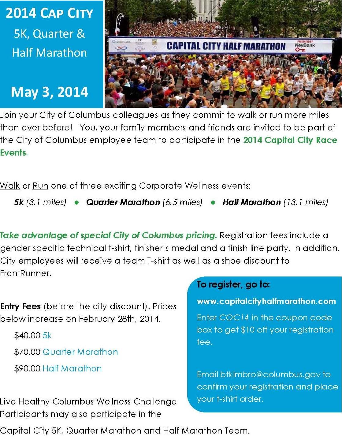 Columbus cap city half marathon coupon code